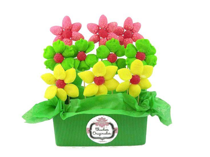 Centros de flores multicolor