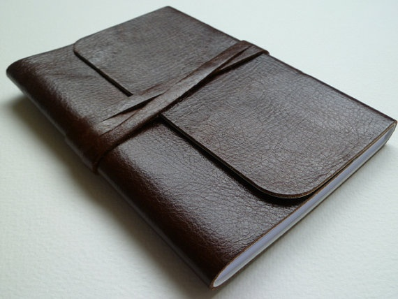 Hazelnut Brown Handmade Leather Bound Notebook, £10. Leatherbound stall at Greenwich Market. Trading days: Wednesdays & Fridays www.Etsy.com/shop/LeatherNotebooks