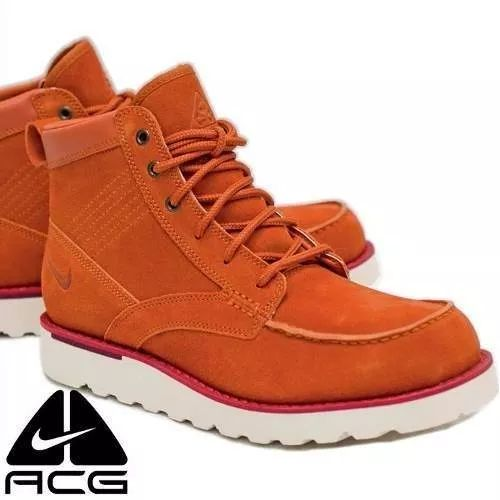 Botas Nike Kingman Caminata Acg Piel Naranja #25.5mx Leather - $ 1,600.00