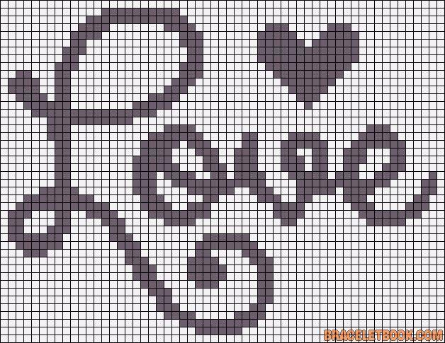 Amor love ponto cruz