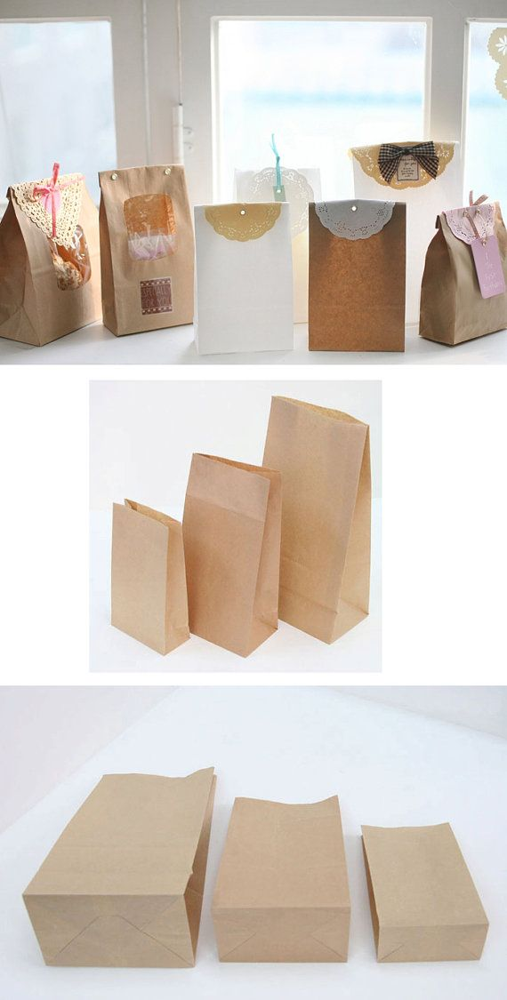 Decorated brown bags for goodies.