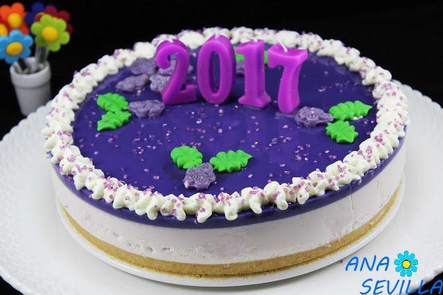 Si os gustan los caramelos violetas, os encantará esta tarta Sabor suave y delicioso, tipo mousse. Tarta de caramelos violeta cocina tradicional. Dedicadas a mi buena amiga, Rosa A-Taquitos, juanera d