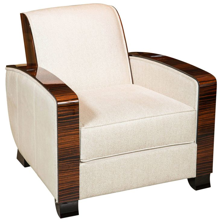 art deco furniture 1920s. art deco style club chair in macassar furniture 1920s
