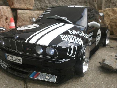 Rc-Drift-Karo-BMW-E-30-M-3-1-10-Klar-Fuer-Tamiya-HPI-MST-Vaterra-Yokomo-Sakura