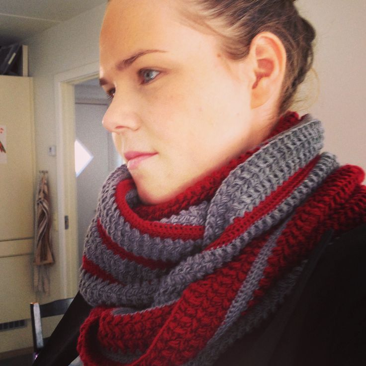 Crocheted scarf my own design.