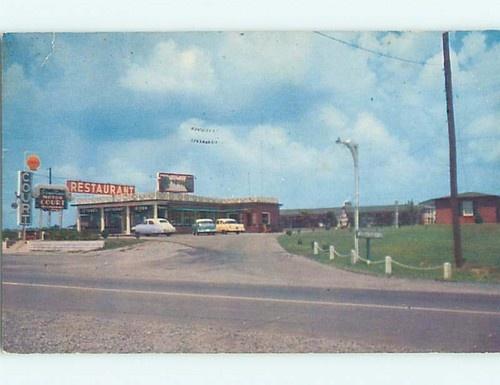 1950's SHELL GAS STATION & STONES RIVER MOTEL & RESTAURANT Murfreesboro TN r1496