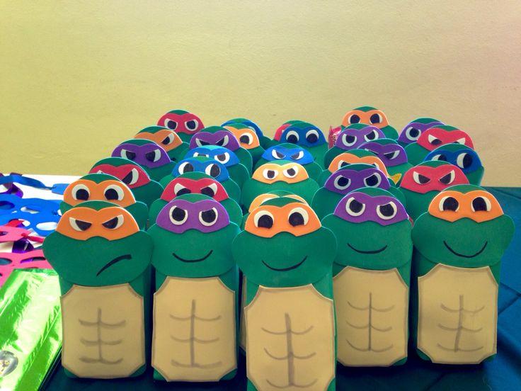 Tenage mutant ninja Turtles party favors, Tenage mutant ninja Turtles bags favors, dulceros de tortugas ninja