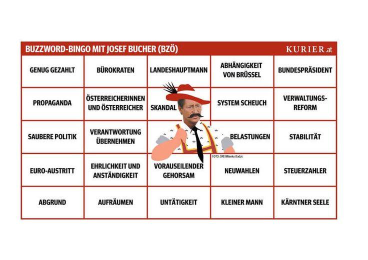 Bingo für das Sommergespräch mit Josef Bucher (2012)