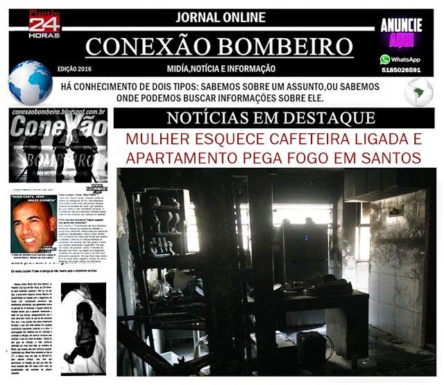 CONEXÃO BOMBEIRO : MULHER ESQUECE CAFETEIRA LIGADA E APARTAMENTO PEGA...