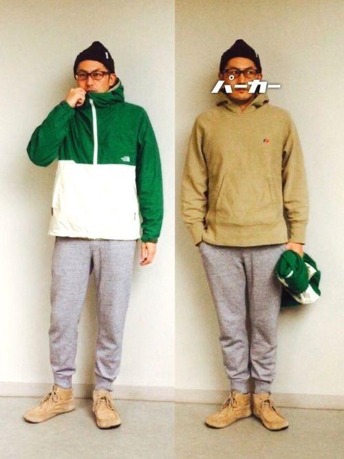 最近、青系コーデが続いてたので緑×白のコンパクトジャケットで。 パーカー オン パーカーコーデ パー