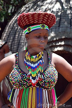Zulu beaded outfit, South Africa