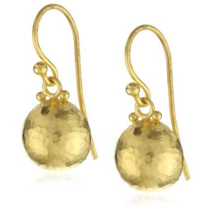 High Karat Gold Half Ball Dangling Earrings