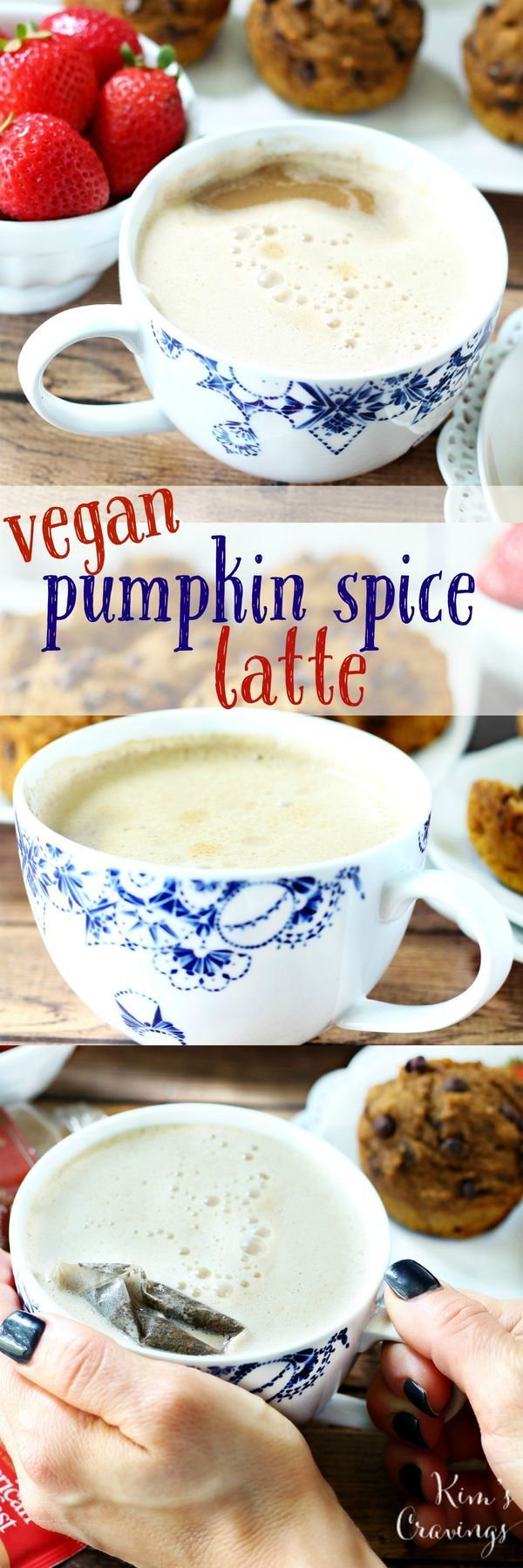 Get in the spirit of the season with this creamy, spicy, and oh-so-pumpkiny Vegan Pumpkin Spice Tea Latte Recipe!
