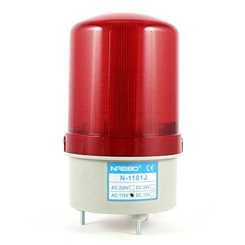 Industrial 105-110dB Buzzer AC 110V Red LED Warning Light Signal Lamp - http://foryourinformation.info/industrial-products/industrial-105-110db-buzzer-ac-110v-red-led-warning-light-signal-lamp/