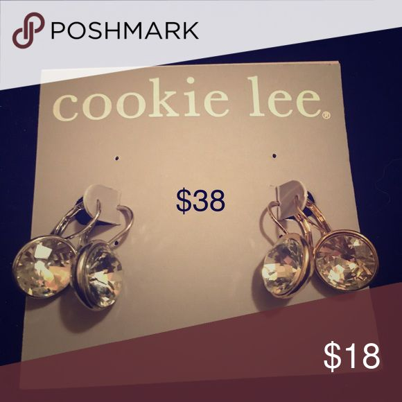Cookie Lee 2 for 1 gold and silver sparkle Beautiful set of two earrings. Both sparkly faux diamonds round cut inlayed in silver and gold bases. Major sparkle with this sophisticated set of pierced earrings. High Fashion jewelry to give you the pop you need to complete your wardrobe!! Just by adding new accessories you can take last years outfit and make it new again! Many accent and staple pieces. Stretch rings, long and short necklaces, and even little girl jewelry!! Cookie Lee Jewelry…