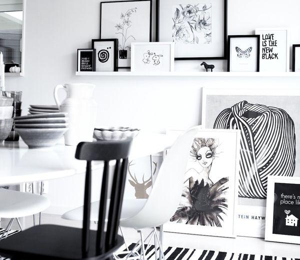 Die 21 besten Bilder zu Black And White Interiors auf Pinterest