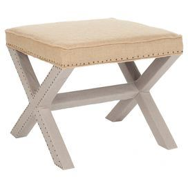 Mai Footstool in Taupe
