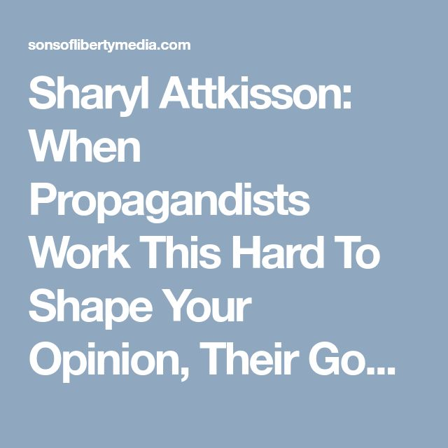 Sharyl Attkisson: When Propagandists Work This Hard To Shape Your Opinion, Their Goal Is To Separate You From The Truth » Sons of Liberty Media