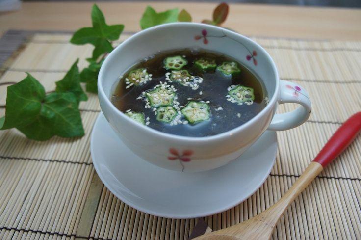 もずくとオクラの和風スープ|夏直前、体力維持のダイエットメニュー - ビューティ&ダイエットレシピ KIREI's Kitchen [キレイスタイル]