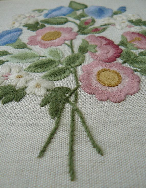 Wild Roses Beginner Crewel Embroidery Kit by ColeshillCollection