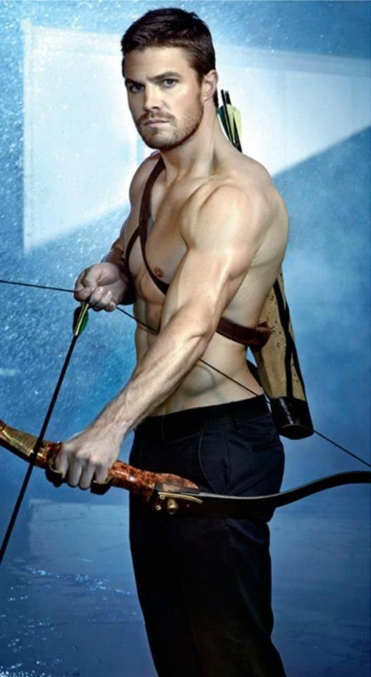 Steve Amell as Oliver Queen (Green Arrow)…my new favorite Super Hero!