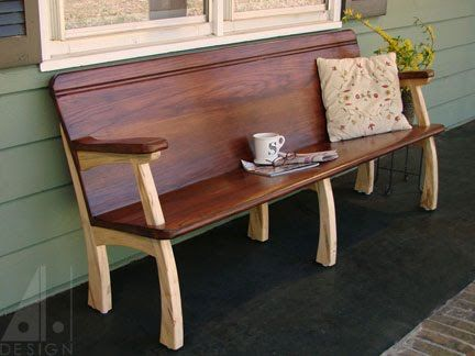 Remodeled Oak Church Pew With Spalted Maple Legs Designed