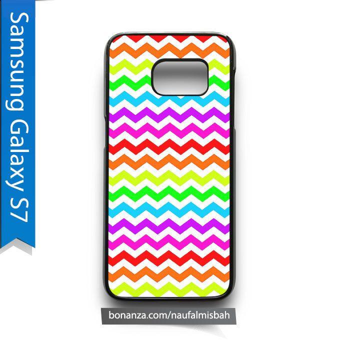 Rainbow Chevron Pattern Samsung Galaxy S7 Case Cover