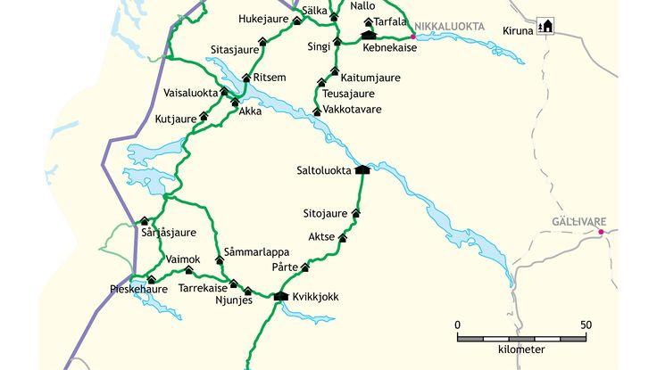 Padjelanta, Sarek, Stora Sjöfallet och Muddus är namn som klingar ljuvt i  vandrarens öron. Dessa fyra nationalparker utgör världsarvet Laponia, tillsammans med naturreservaten Sjaunja och Stubba. Området är lika stort som tre Gotland.