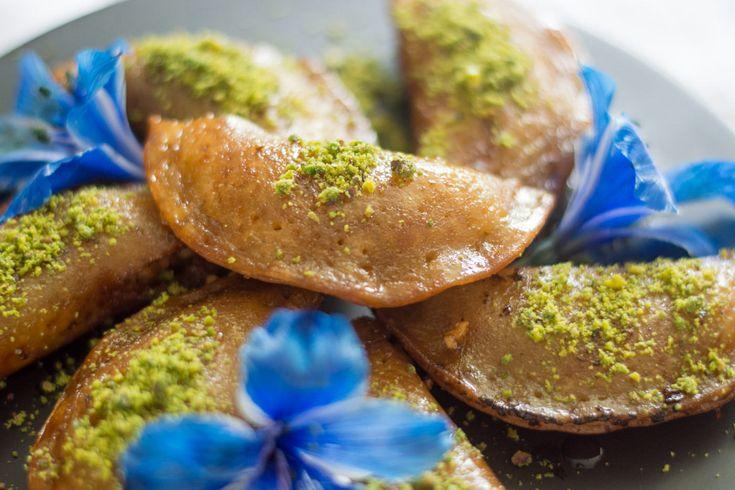 Walnut Stuffed Atayef Simply Lebanese Recipe Moroccan Food Indian Dessert Recipes Food