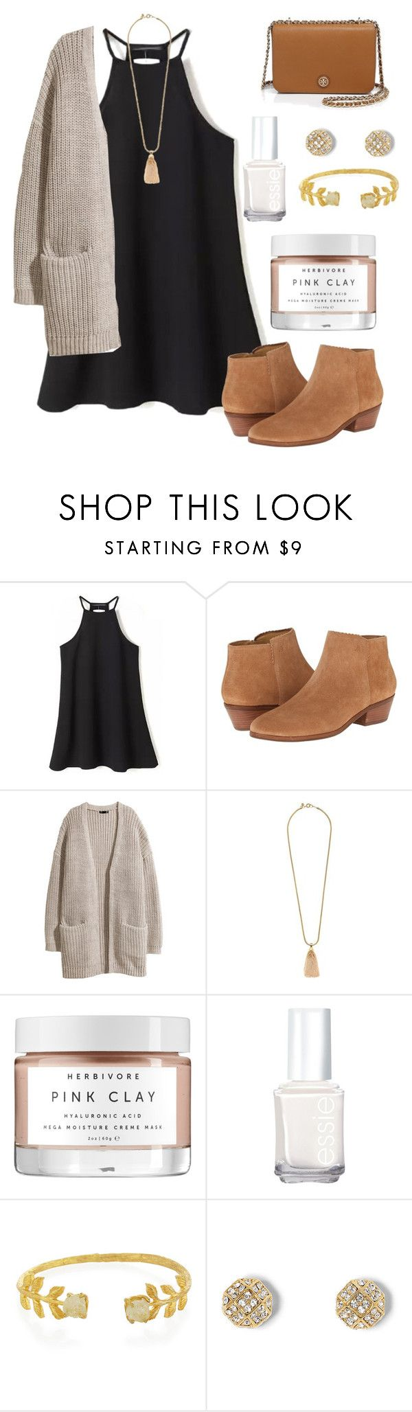 """""""I want you to want me"""" by madelyn-abigail ❤ liked on Polyvore featuring moda, Jack Rogers, H&M, J.Crew, Essie, NAKAMOL, Vince Camuto, Tory Burch, women's clothing e women's fashion"""