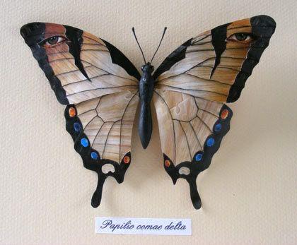 Papilio comae delta (Delta's hair Papilio)  mixed media   by Patricia Denis #patriciadartist