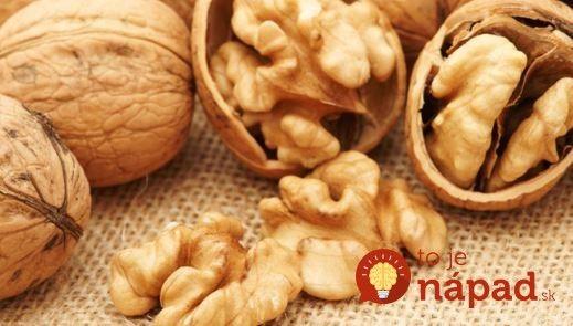Neutrácajte za drahé produkty z lekárne. Mali by ste spoznať, čo dokážu obyčajné orechy!