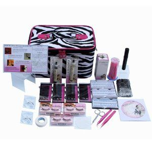 Eyelash Extension Kit - No Burn Glue - Non Irritant - Over 250 Applications by Lashes and Cosmetics. $125.00. Eyelash Extension Kit With Everything Included Over 250 Applications | Htpoallergenic Glue Non-Burn Non Odor | Professional Tools | DVD. Over 2,000 eyelashes come with this kit. Lot's Of Professional MINK Single Eyelashes 8mm, 10mm, 12mm, 14mm Of Single Eyelash Extensions | Short, Med, Long Trays Of Cluster Eyelashes | Natural, Volume, Drmatic Strip Lashes Light...