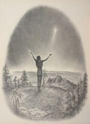 """Haŋblečeya - Crying for a Vision A Native American person usually undertakes a vision quest in an isolated area, generally without food or water. The """"seeker"""" remains isolated as long as it takes to achieve the desired goal; the quest may last up to three or four days."""
