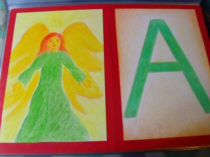 Waldorf ~ 1st grade ~ Letter: A ~ main lesson book