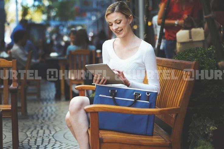 "Moshi Urbana - Torba MacBook Pro 15"" Retina/iPad Pro 12,9"" + kieszeń na tablet do 10"" (Cerulean Blue)"
