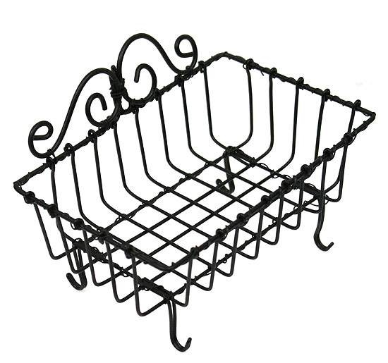 Black Wire Soap Basket For Kitchen, Bath Or Laundry Put A Great Bar Of