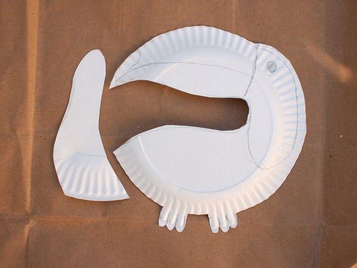 cut out your paper plate toucan parts
