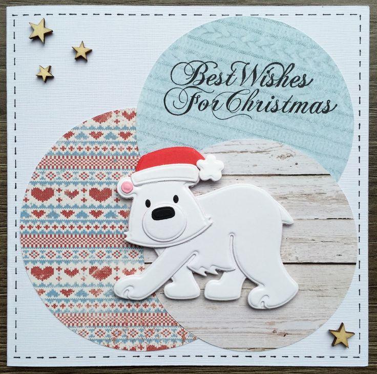 Het is weer donderdag, dus je raadt het misschien al... kerstkaartentijd!     Zelf heb ik de ijsberen-collectable van Marianne Design niet...