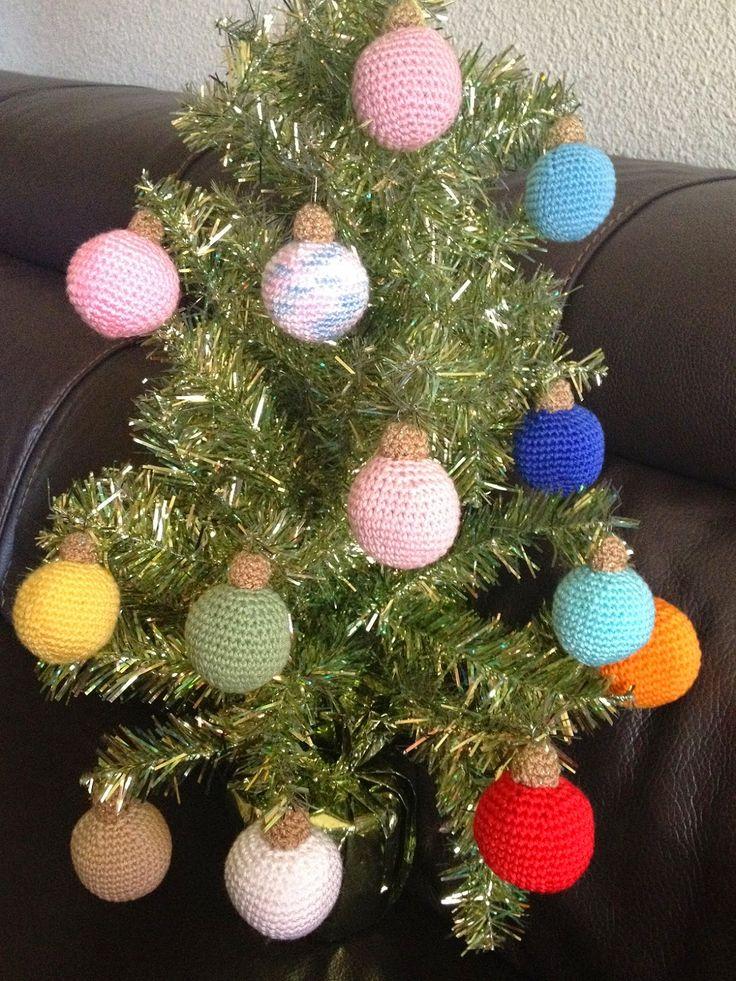 C mo hacer bolas de navidad de crochet crochet ball - Manualidades con bolas de navidad ...