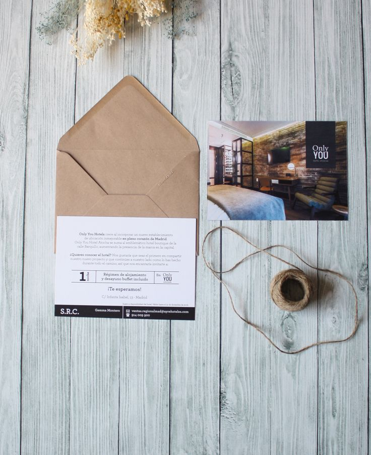 Diseño y creación de Invitación de aperura de un nuevo hotel de la cadena Only YOU Hotel en Atocha (Madrid)