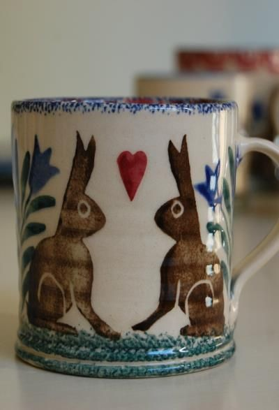 Hare and heart mug - Ceramics - Scandinavian Interiors