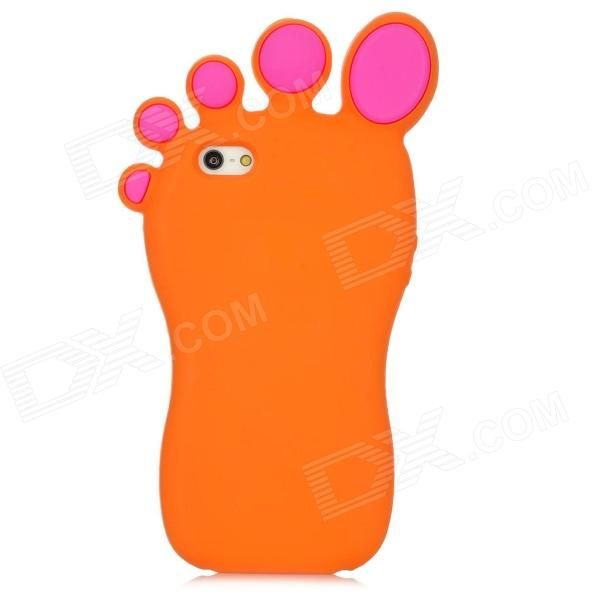 Quantity: 1 Piece; Color: Orange; Material: Silicone; Compatible Models: Iphone 5; Other Features: Big foot style creative and fashionable design personalize your device with it; Protects your device from scratches dust and shocks; Packing List: 1 x Case; http://j.mp/VIM5jl