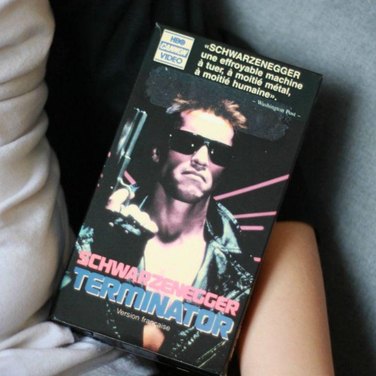 VHS Terminator Film Francais, Arnold Schwarzenegger, VHS Francais, Film 1980, Film Action, Collectionneur de film, Cadeau noel, 80s decor de la boutique PastelEtPixel sur Etsy
