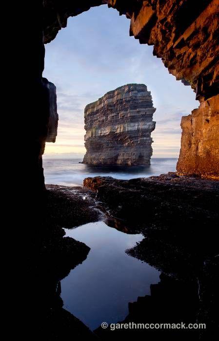 *Dun Briste from Downpatrick Head sea cave, Co Mayo, Ireland.
