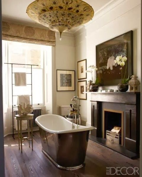 banyo şöminesi