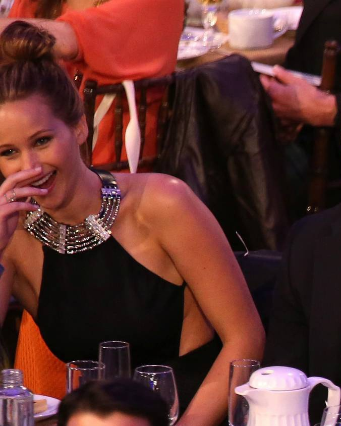 Jennifer Lawrence at Film Independent Spirit Awards 23/02/2013 audience. Won best female lead!