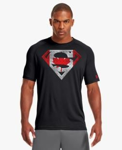 Men 39 s canada under armour alter ego superman t shirt for Under armour shirts canada