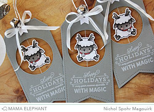 Mama Elephant | Wooly Winter Spinner Tags!