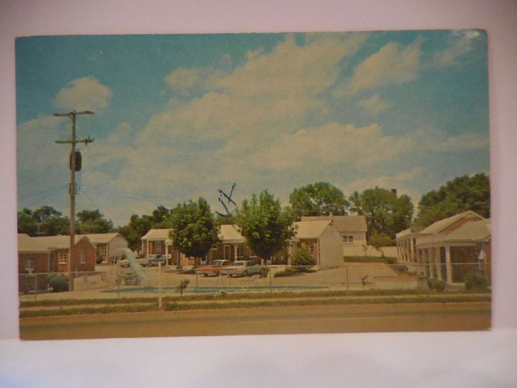 1966 Anderson Motel and Restaurant Murfreesboro Tennessee Postcard